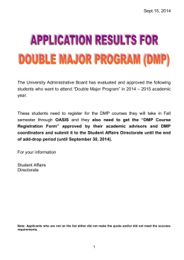 2003-2004 öğretim yılı çift anadal başvuruları