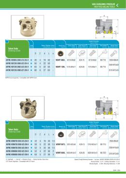 hızlı ilerlemeli frezeler hıgh feed mıllıng tools ahfmc-wd0804