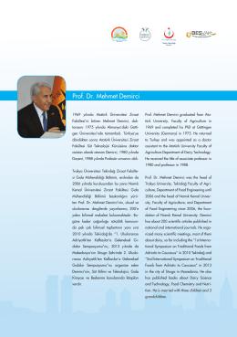 Prof. Dr. Mehmet Demirci