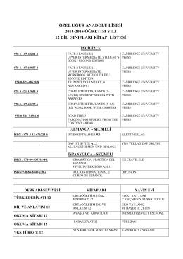 özel uğur anadolu lisesi 2014-2015 öğretim yılı 12 dil