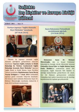 14 Ocak 2014 - Dış İlişkiler ve AB Genel Müdürlüğü