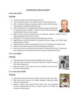 onkomer özel onkoloji merkezi - Türk Radyasyon Onkolojisi Derneği