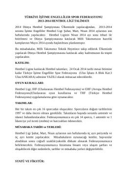 hentbollgtalmatı2014 - İşitme Engelliler Spor Federasyonu
