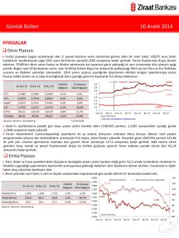 10 Aralık 2014 tarihli piyasa yorumu