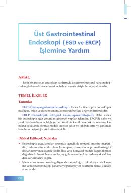41. Üst Gastrointestinal Endoskopi (EGD ve ERCP) İşlemine Yardım