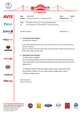 Communication 2 Doc.3.2 - Avis Bosphorus Rally 2014
