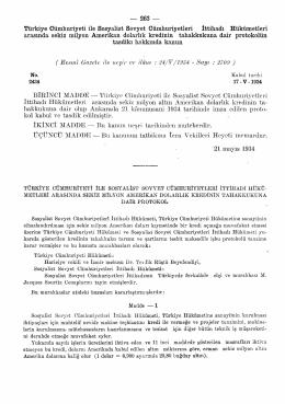 Türkiye Cumhuriyeti ile Sosyalist Sovyet