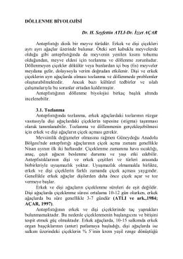 DÖLLENME BİYOLOJİSİ Dr. H. Seyfettin ATLI
