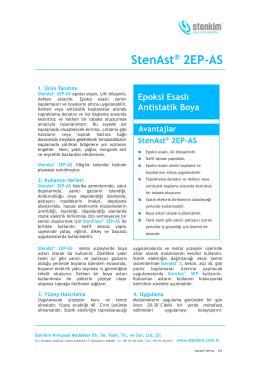 StenAst® 2EP-AS - stenkim.com.tr