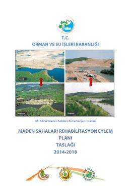 maden sahaları rehabilitasyon eylem planı taslağı