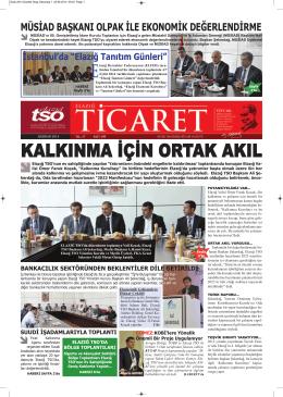 Haziran 2014 - Elazığ Ticaret ve Sanayi Odası