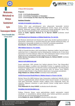 Malzeme, Metalurji ve Kimya Sektörleri için İnovasyon