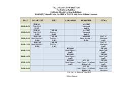 T.C. AVRASYA ÜNİVERSİTESİ Fen-Edebiyat Fakültesi Moleküler