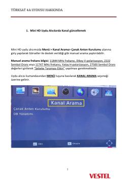 türksat 4a uydusu hakkında