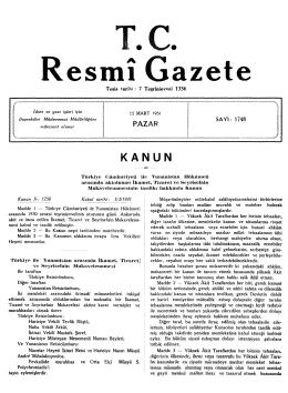 Türkiye Cumhuriyeti ile Yunanistan Hükümeti