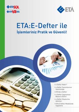 ETA:E-Defter ile - Eta Bilgisayar
