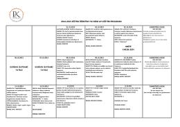 2014-2015 eğitim öğretim yılı ekim ayı eğitim programı