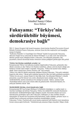Fukuyama - İstanbul Sanayi Odası