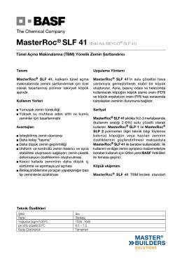MasterRoc® SLF 41 (Eski Adı MEYCO® SLF 41) Tünel