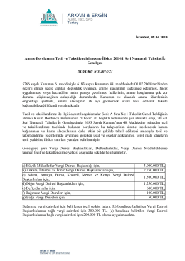 2014-23 Amme Borçlarının Tecil ve