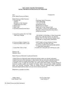 Davet Mektubu - Odtü Genel Sekreterlik