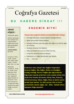 Endemik bitki - Kpss Coğrafya Rehberi