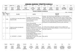 15 ekim 2014 tarihinde yapılan yönetim kurulu