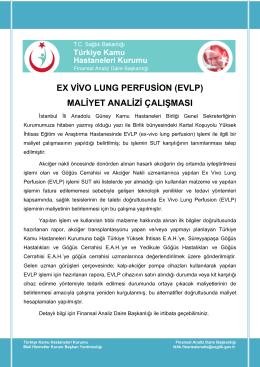 ex vivo lung perfusion (evlp) - Türkiye Kamu Hastaneleri Kurumu