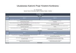 Program - UKPYK - İstanbul Teknik Üniversitesi