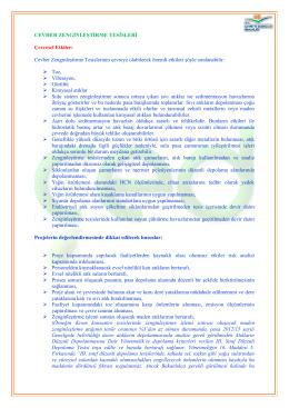 Cevher Zenginleştirme Tesisleri - Çevre ve Şehircilik Bakanlığı