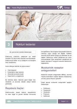 Nokturi tedavisi - EAU Patient Information