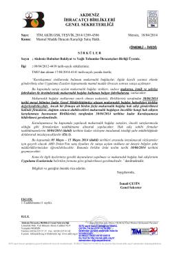 makarna, irmik, şehriye - Akdeniz İhracatçı Birlikleri
