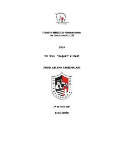 2014 Yıl Sonu Başarı Kupası - Türkiye Binicilik Federasyonu
