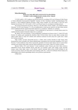 Bazı Alacakların 6552 Sayılı Kanun Kapsamında Yeniden