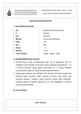 563 Ada 5 Parsel Analitik Rölöve