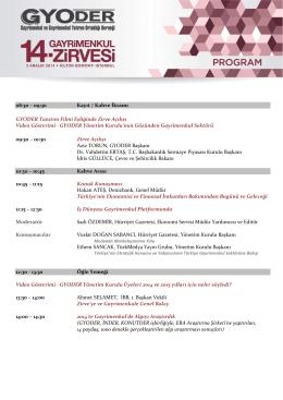 program - GYODER Gayrimenkul Zirvesi 2014