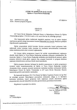 Hizmetiçi Eğitim Genelgesi - Çevre ve Şehircilik Bakanlığı