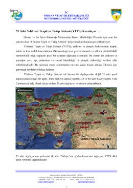 YTTS - Meteoroloji Genel Müdürlüğü
