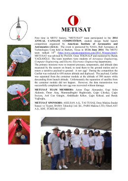 METUSAT - Department of Aerospace Engineering at METU