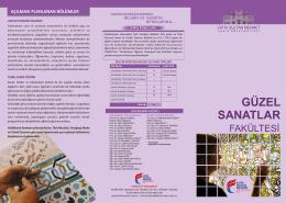 Güzel Sanatlar Fakültesi.cdr - Fatih Sultan Mehmet Vakıf Üniversitesi