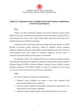 Ortak Program Raporu Temmuz 2014