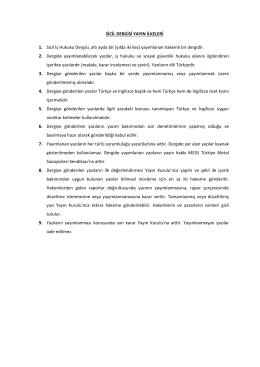 sicil dergisi yayın ilkeleri