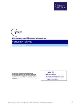 iPF Örnek Kısa Rapor