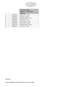 Ek Yerleştirme Fast Track Final Sınavı Sınıf Listesi