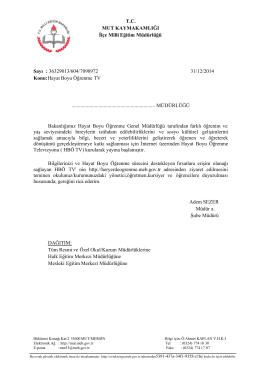 H.B.Ö.TV-İLÇE YAZISI - mut ilçe millî eğitim müdürlüğü