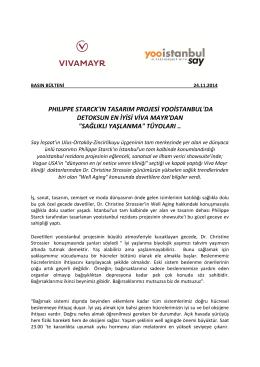 yooistanbul-Viva Mayr Basın Bülteni,24.11.2014