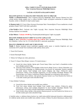ayçiçek satış şartnamesi-2014