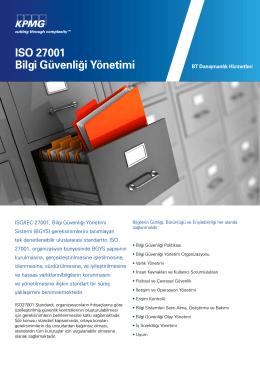 ISO 27001 Bilgi Güvenliği Yönetimi (PDF 159KB)