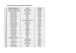 bütünleme sınavına girecek öğrencilerin listesi: öğretim görevlisi