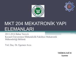 mkt 204 mekatronik yapı elamanları
